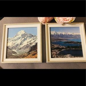 Pair of Small vintage New Zealand landscape Arts